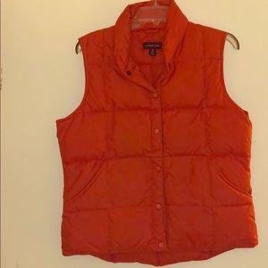 Lands' End Goose Down Vest - size M- Burnt Orange